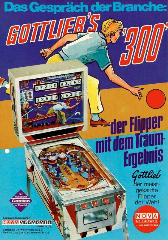 Pinball Machines - Gottlieb 300 Bowling - Pinball - mech