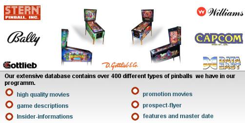 pinball-shop de - Pinballs, Arcade, Videogames, Spare Parts